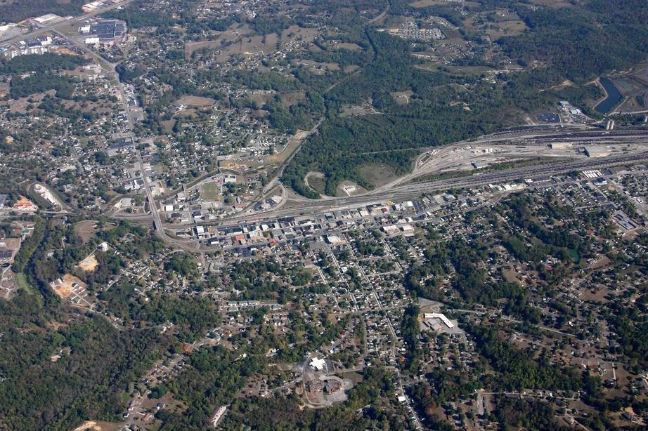 Corbin, KY: corbin,ky.from 7000ft.
