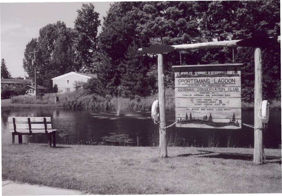 Goodman, WI: Sportsman Club Fishing Pond in Goodman