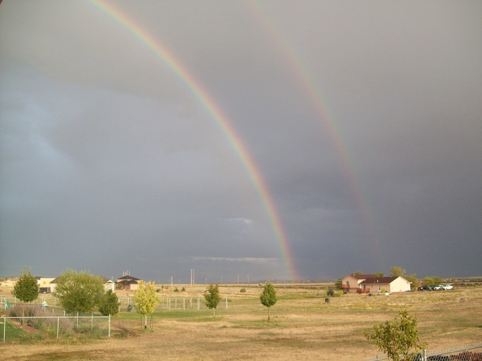 Pueblo West, CO : double rainbow