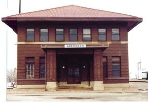 Aberdeen, SD : Milwaukee RR Depot