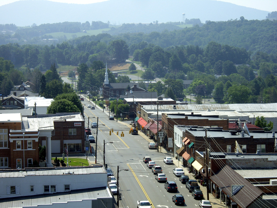 Sparta, NC: Aerial Blimp Photo Downtown Sparta NC