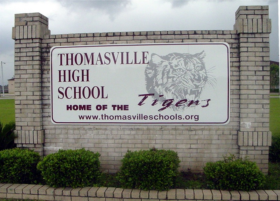 Thomasville Al Thomasville High School Sign Photo