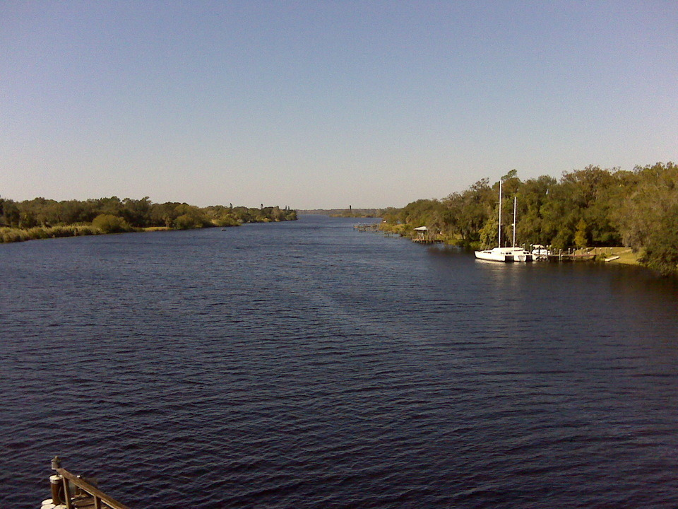 Alva, FL : View from Bridge over Caloosahatchee River near Alva post Office