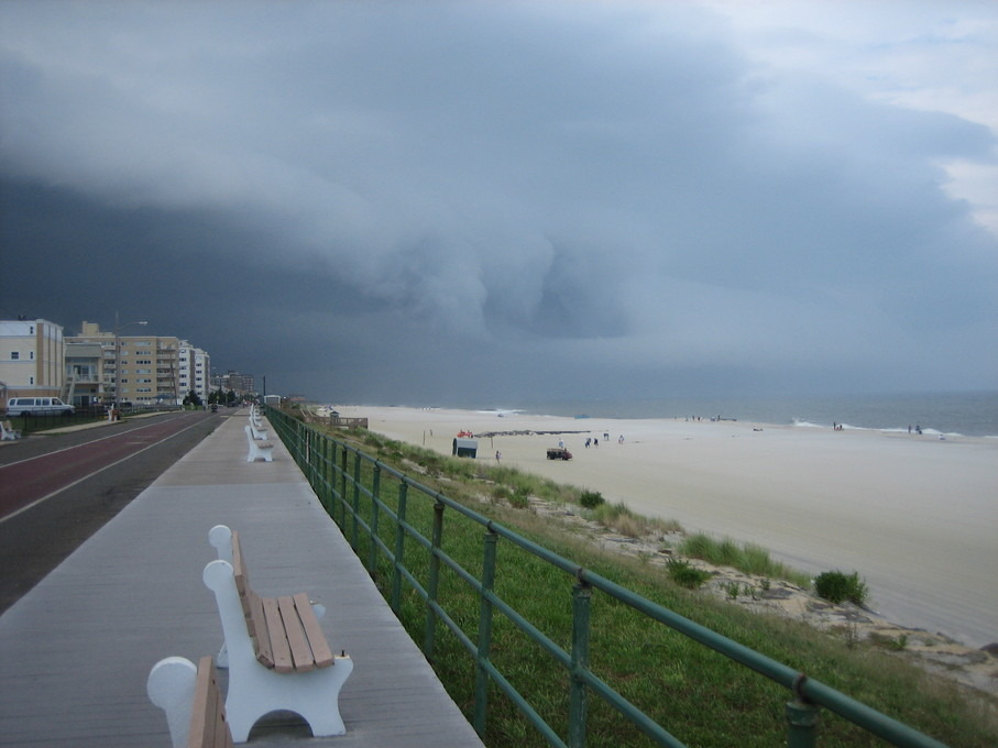 Long Branch, NJ: Heavy Storm Overtakes the Long Branch Boardwalk and Beach