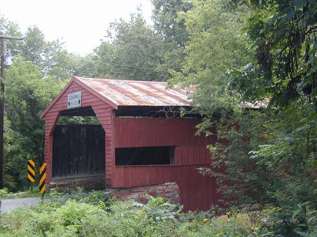 Newburg, PA : Ramp's Bridge which is the last covered bridge in Cumberland County