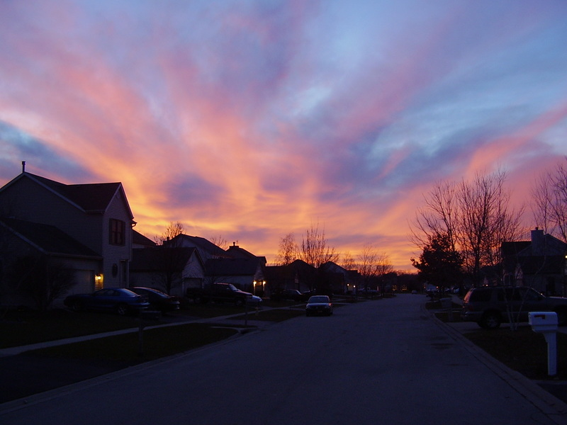Belvidere, IL: Neighborhood strret at early evening