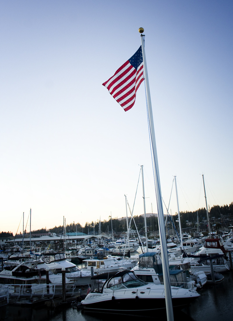 Anacortes, WA: Skyline Marina at sunset
