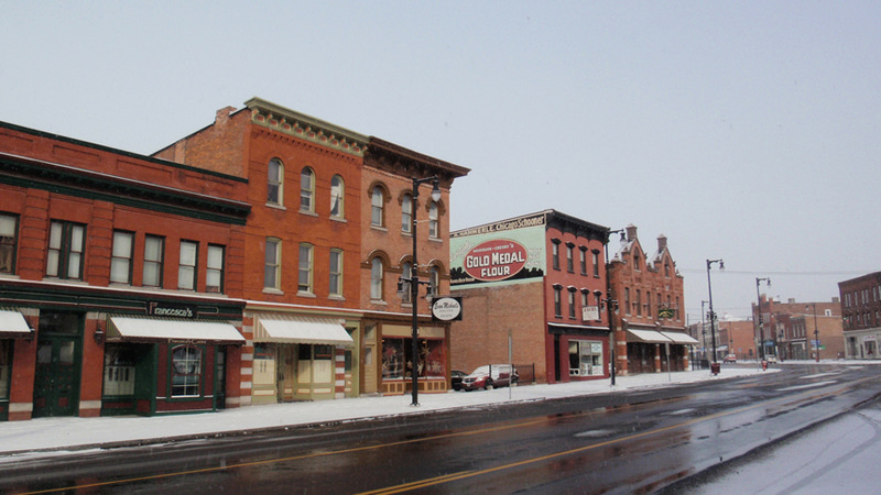Syracuse, NY: Winter in Little Italy, Syracuse.