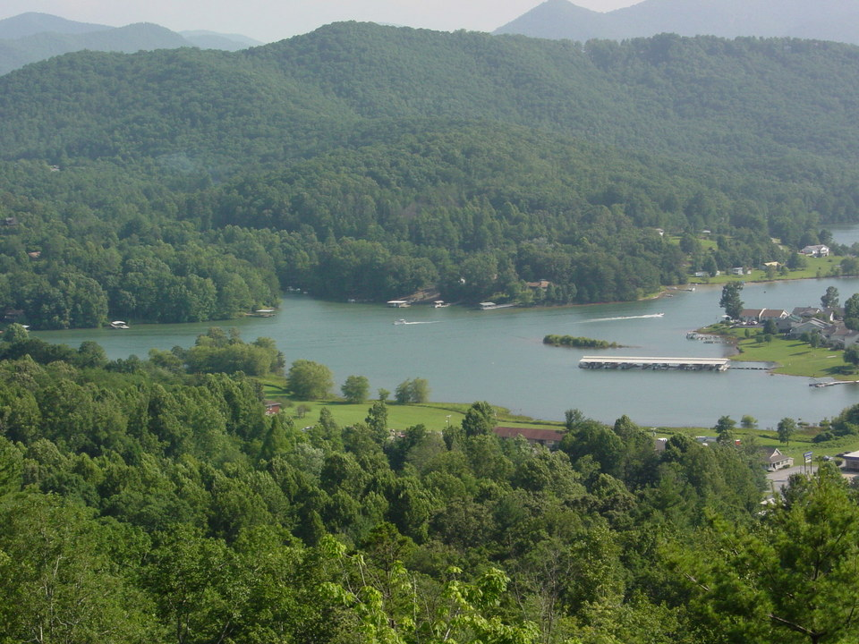 Hiawassee GA  Lake Chatuge from Whiskey Mountain photo picture