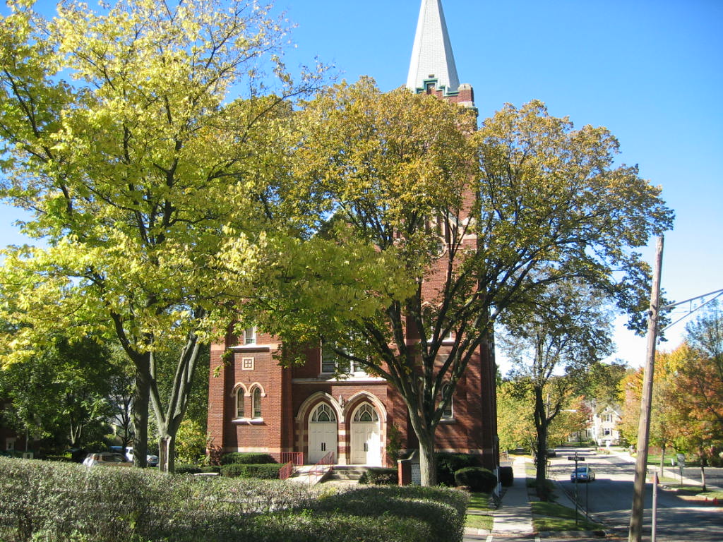 Hinsdale, IL : Zion Luthern Church and school on Grant street