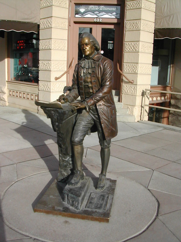 Rapid City, SD : City of Presidents, Rapid City SD, Thomas Jefferson Bronze Statue