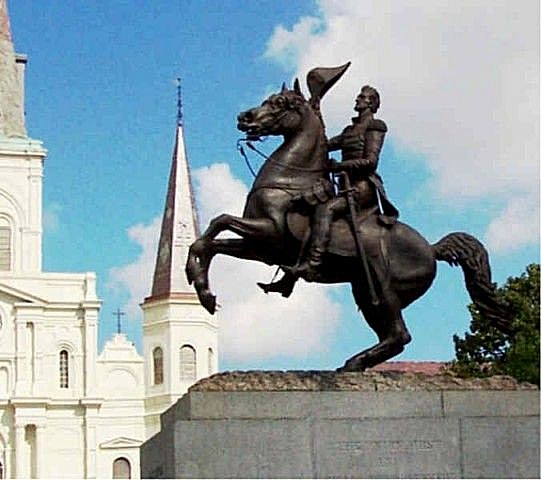 New Orleans, LA: Jackson Square in the heart of the Vieux Carre