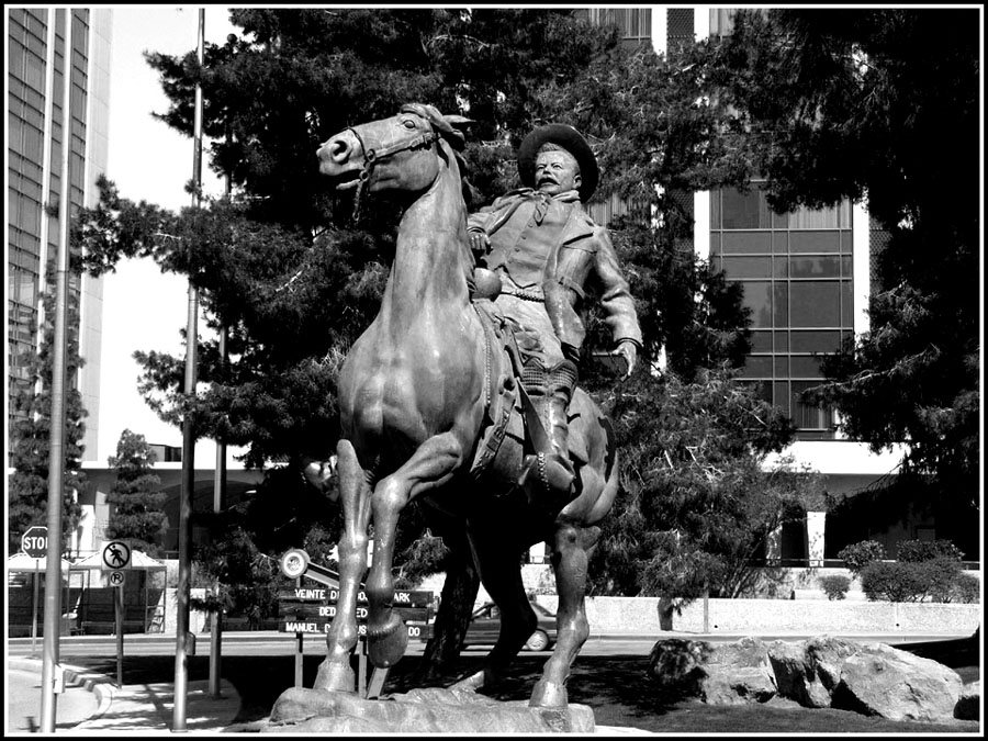 Tucson, AZ : Statue of Pancho Villa, the Mexican Revolutionary Leader