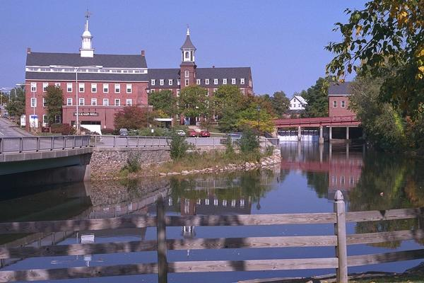 Laconia, NH: Laconia, New Hampshire - Downtown Riverside