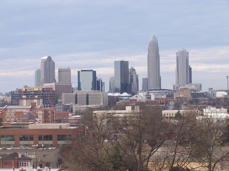 Charlotte, NC: Downtown Charlotte from Presbyterian Hospital #2