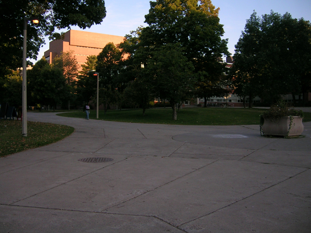 Houghton, MI : A view of the Michigan Tech campus, east of Houghton