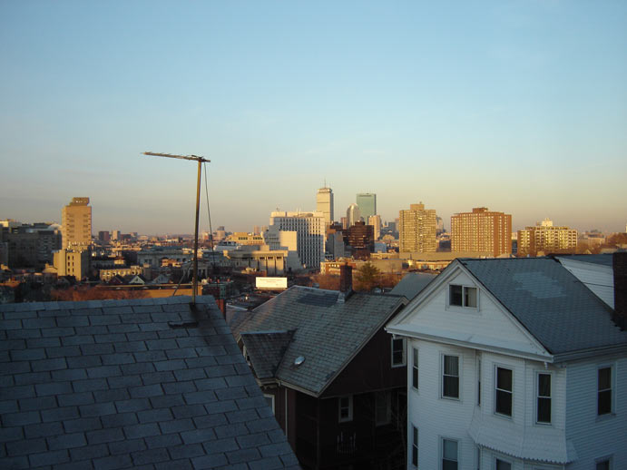 Boston, MA : View of Boston from Mission Hill.......
