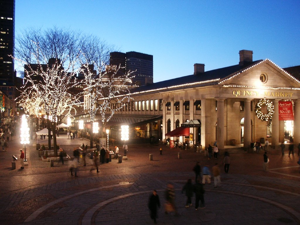 Boston, MA : Quincy Market Jan. 1, 2005