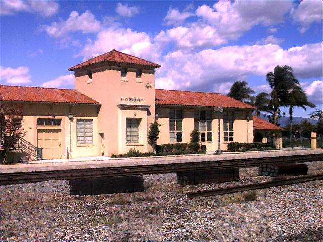 Pomona, CA: The train station in Pomona