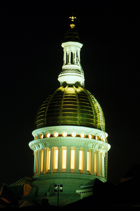 Trenton, NJ: New Jersey State House Dome in Trenton (NightTime)