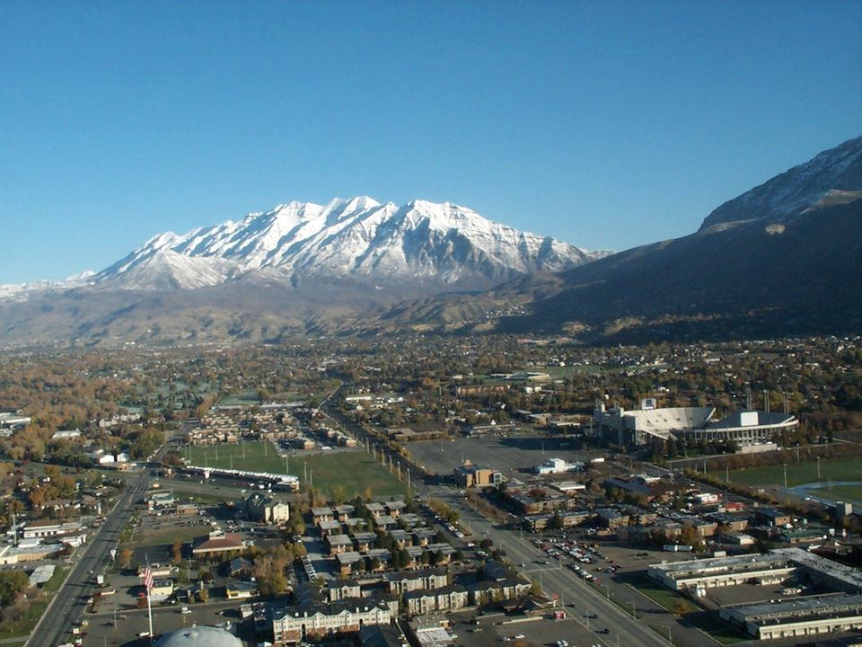 Provo, UT: Looking north-north-east towards Mt. Timpanogos.