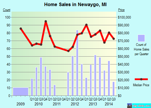 Newaygo,MI real estate house value index trend