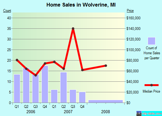 Wolverine,MI real estate house value index trend