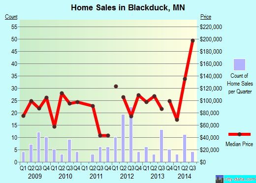 Blackduck,MN real estate house value index trend