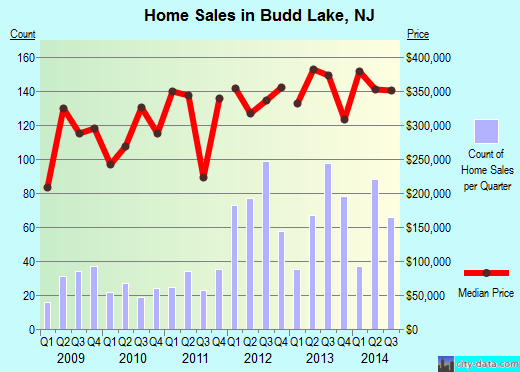 Budd Lake,NJ real estate house value index trend