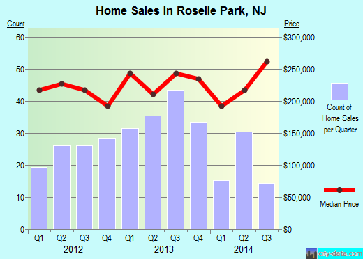 Roselle Park,NJ real estate house value index trend