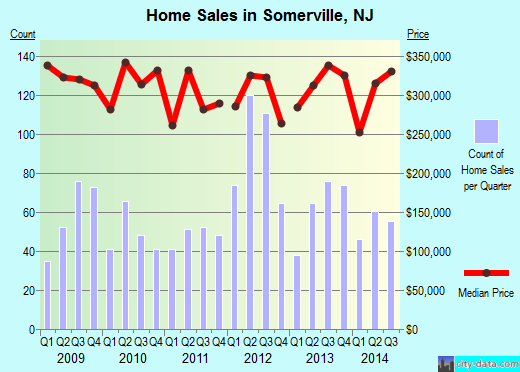 Somerville,NJ real estate house value index trend