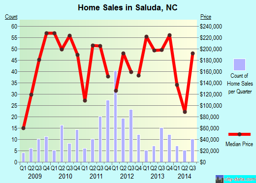 Saluda,NC real estate house value index trend