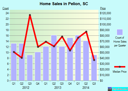 Pelion,SC real estate house value index trend