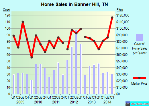 Banner Hill,TN real estate house value index trend