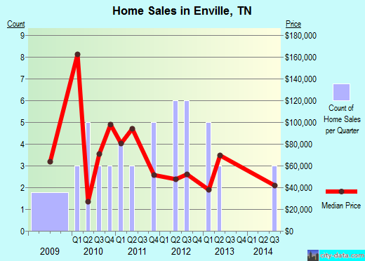 Enville,TN real estate house value index trend