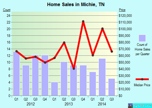 Michie,TN real estate house value index trend