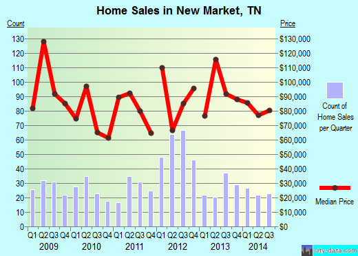 New Market,TN real estate house value index trend