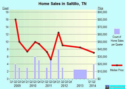 Saltillo,TN real estate house value index trend