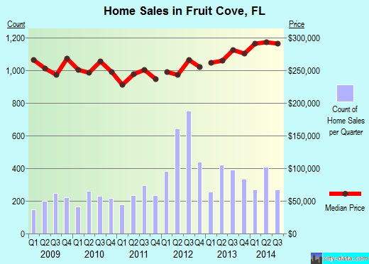 Fruit Cove,FL real estate house value index trend
