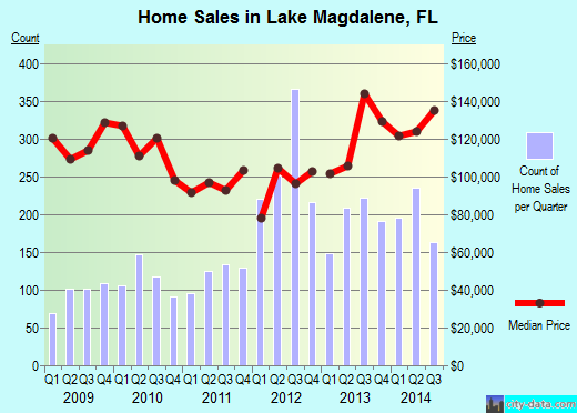 Lake Magdalene,FL real estate house value index trend