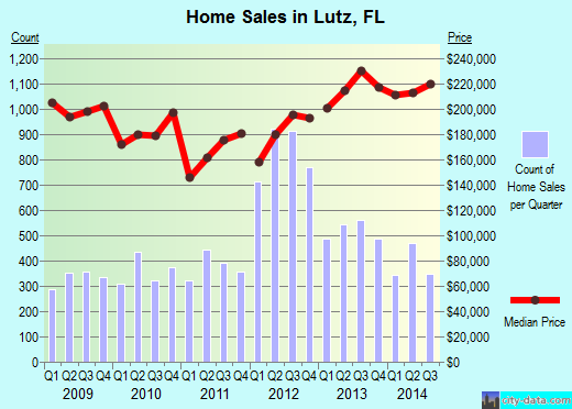 Lutz, FL index of house prices