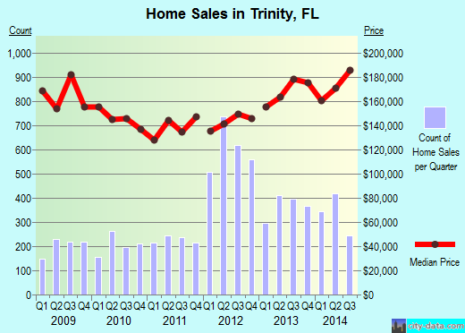 Trinity,FL real estate house value index trend