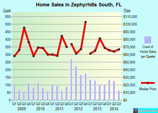 Zephyrhills South,FL index of house prices