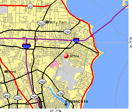 Pensacola, FL (32504) map