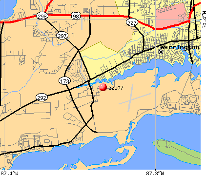 Warrington, FL (32507) map