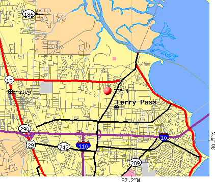 Ferry Pass, FL (32514) map