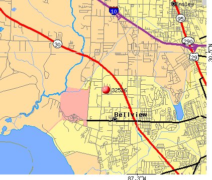 Bellview, FL (32526) map