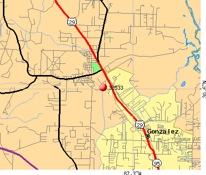 Gonzalez, FL (32533) map