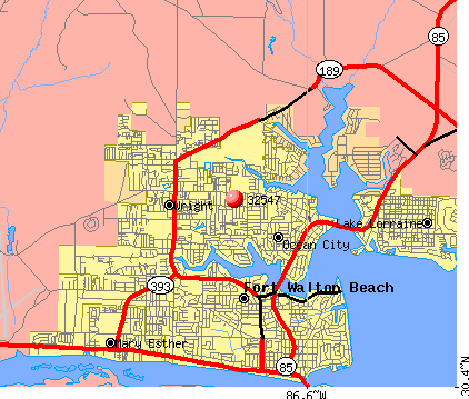 Wright, FL (32547) map
