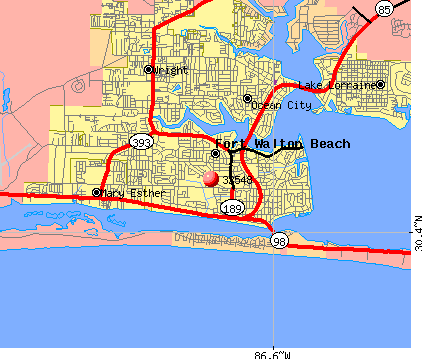 Fort Walton Beach, FL (32548) map